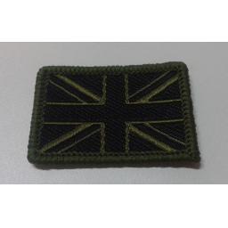 Union Flag black and olive