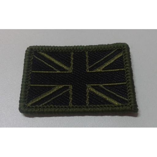 Union Flag black and olive